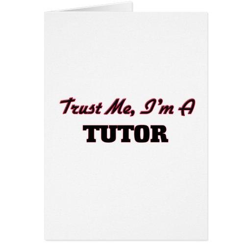 Confíe en que yo es profesor particular
