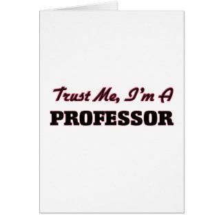 Confíe en que yo es profesor tarjetas