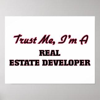 Confíe en que yo es promotor inmobiliario posters