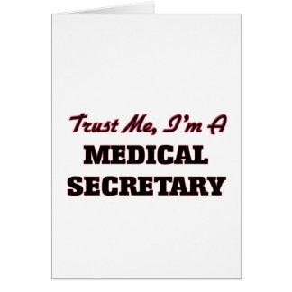 Confíe en que yo es secretaria médica tarjetas