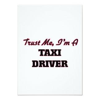 Confíe en que yo es taxista invitación 12,7 x 17,8 cm