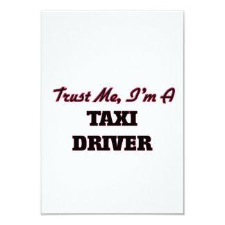 Confíe en que yo es taxista invitación 8,9 x 12,7 cm