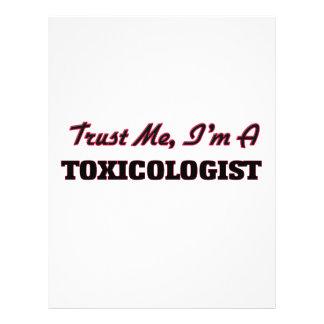 Confíe en que yo es toxicólogo flyer personalizado