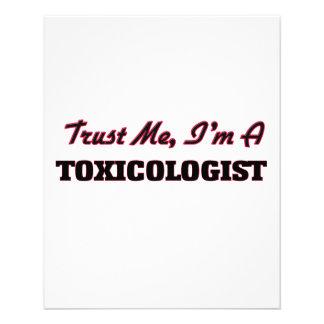 Confíe en que yo es toxicólogo tarjeta publicitaria