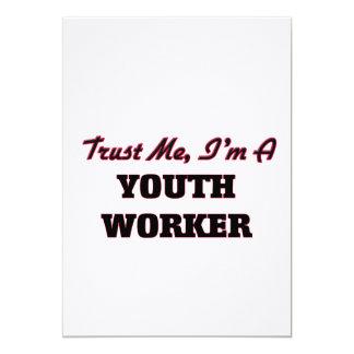 Confíe en que yo es trabajador de la juventud invitaciones personalizada