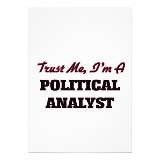 Confíe en que yo es un analista político anuncio personalizado