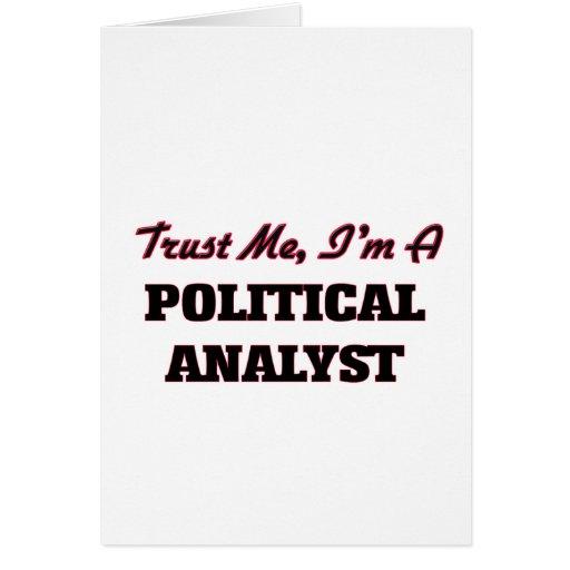Confíe en que yo es un analista político tarjeton