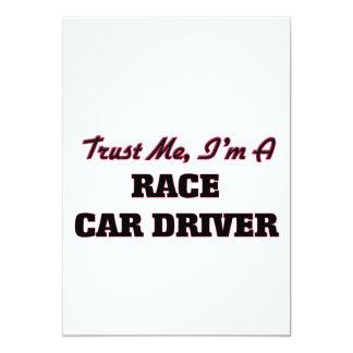 Confíe en que yo es un conductor de coche de invitación 12,7 x 17,8 cm