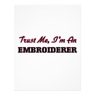 Confíe en que yo es un Embroiderer Tarjetones