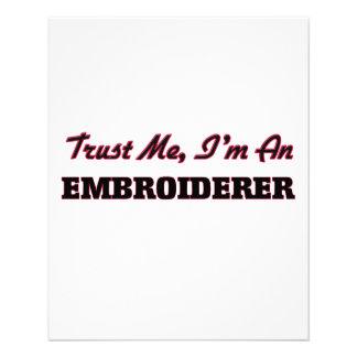 Confíe en que yo es un Embroiderer Flyer A Todo Color