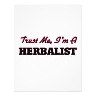 Confíe en que yo es un Herbalist Tarjetas Informativas