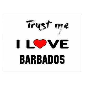 Confíeme en amor Barbados de I Postal