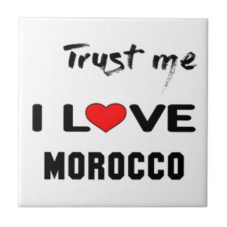 Confíeme en amor Marruecos de I Azulejo Cuadrado Pequeño
