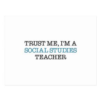 """Confíeme en, I """" m un profesor de los estudios soc Postal"""