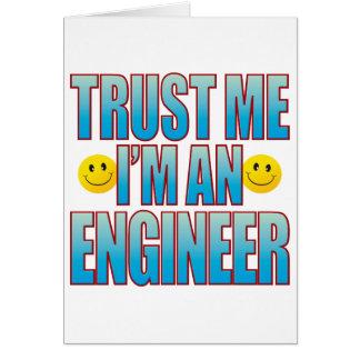 Confíeme en la vida B del ingeniero Tarjeta De Felicitación