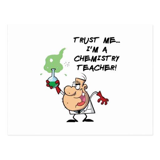 Confíeme en… Soy profesor de la química Tarjetas Postales