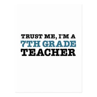 Confíeme en, yo son profesor del grado de A séptim Postal