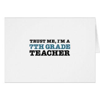 Confíeme en, yo son profesor del grado de A séptim Tarjetas
