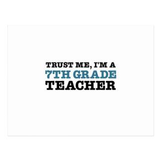 Confíeme en, yo son profesor del grado de A séptim Postales