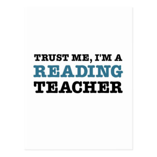 Confíeme en, yo son un profesor de lectura postal