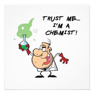 Confíeme en yo son un químico comunicado personalizado