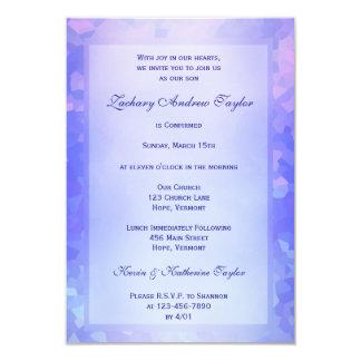 Confirmación azul clara invitación 8,9 x 12,7 cm