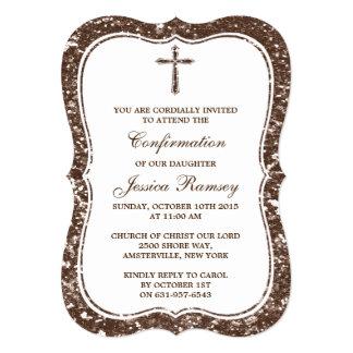 Confirmación de la comunión santa de la cruz del invitación 12,7 x 17,8 cm