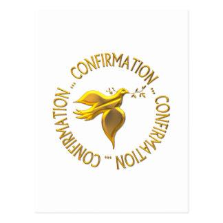 Confirmación de oro y Espíritu Santo Postal