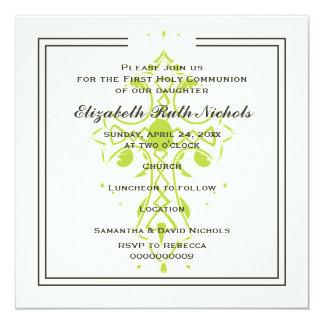 Confirmación del bautismo de la comunión de la invitación 13,3 cm x 13,3cm