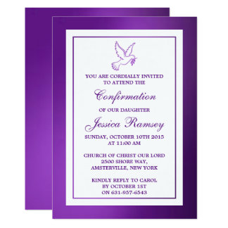 Confirmación metálica de la comunión santa de la invitación 12,7 x 17,8 cm