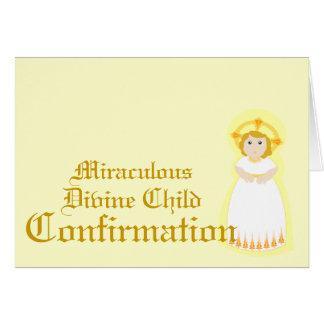 Confirmación-Personalizar milagroso Tarjetas