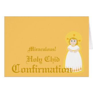 Confirmación-Personalizar milagroso Tarjeta