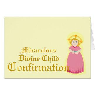 Confirmación-Personalizar milagroso Tarjeton