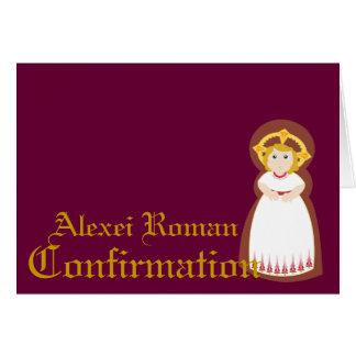 Confirmación-Personalizar Tarjeta De Felicitación