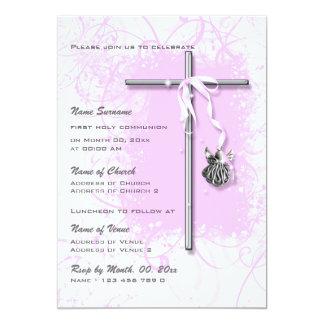 Confirmación religiosa de la comunión del bautismo invitación 12,7 x 17,8 cm