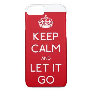Congelado guarde la calma y déjela ir caso de funda iPhone 7
