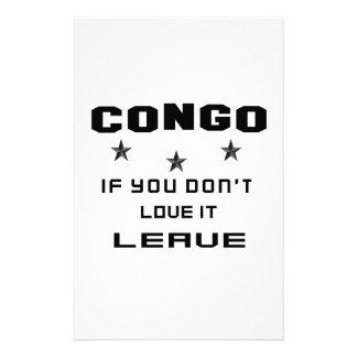 Congo si usted no lo ama, se va papelería personalizada