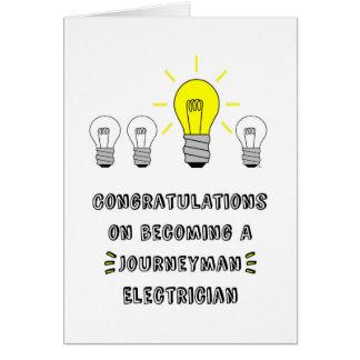 Congrats en hacer un electricista del oficial tarjeta de felicitación