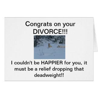 ¡Congrats en su DIVORCIO! Tarjeta De Felicitación