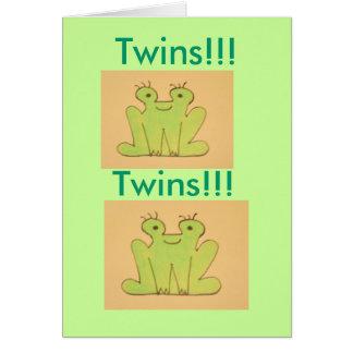 ¡Congrats gemelos!! Tarjeta De Felicitación
