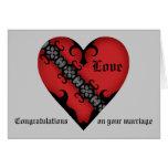 Congrats medievales góticos románticos del boda felicitación