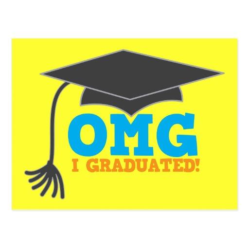 ¡Congratuations de OMG I graduado! Postales