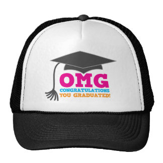 ¡Congratuations de OMG que usted graduó Gorros Bordados