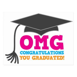 ¡Congratuations de OMG que usted graduó! Postal