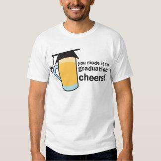 ¡congratuations que usted graduó! Vidrio de Camisas