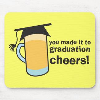 ¡congratuations que usted graduó! Vidrio de CERVEZ Alfombrilla De Ratones