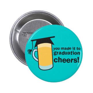 ¡congratuations que usted graduó! Vidrio de CERVEZ Chapa Redonda 5 Cm