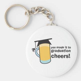 ¡congratuations que usted graduó! Vidrio de CERVEZ Llavero Redondo Tipo Chapa