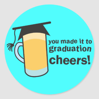 ¡congratuations que usted graduó! Vidrio de CERVEZ Etiquetas