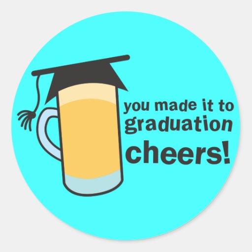 ¡congratuations que usted graduó! Vidrio de Etiquetas Redondas